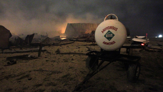 Texas blast: Ammonium nitrate's fertile history of devastation