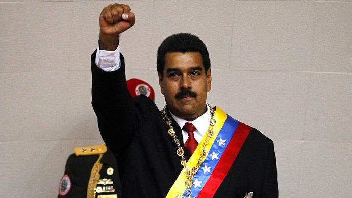 Venezuela's Maduro sworn into office as vote recount looms