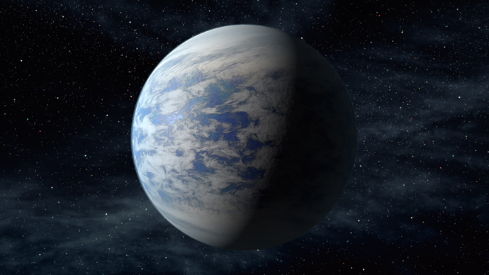 This artist's concept provided by NASA April 18, 2013, depicts Kepler-69c, a super-Earth-size planet in the habitable zone of a star like our sun, located about 2,700 light-years from Earth in the constellation Cygnus. Kepler-69c, is 70 percent larger than the size of Earth, and is the smallest yet found to orbit in the habitable zone of a sun-like star (AFP Photo / NASA)