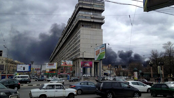 Columns of black smoke screen Moscow sky causing Twitter storm (PHOTOS)