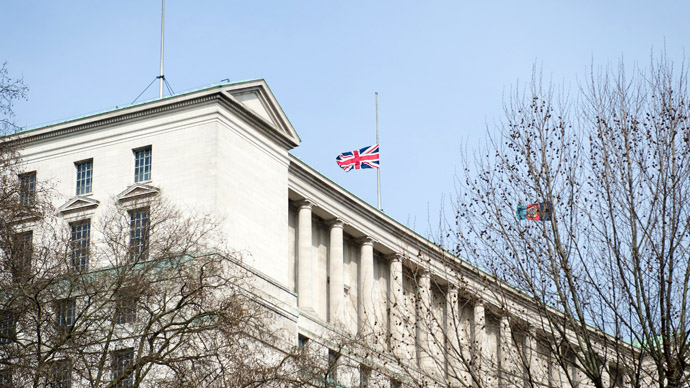 British Ministry of Defence building in central London (AFP Photo)