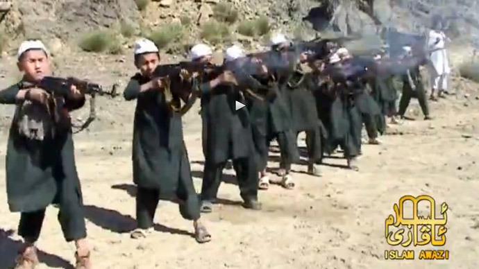 Kids filmed firing heavy arsenal at tyke terror training Camp in Pakistan (VIDEO)