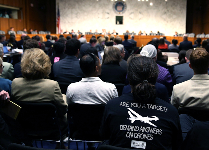 Audience members listen to testimony during a Senate Judiciary Subcommittee on Civil Rights and Human Rights hearing on Capitol Hill on April 23, 2013 in Washington, DC (Mark Wilson / Getty Images / AFP)