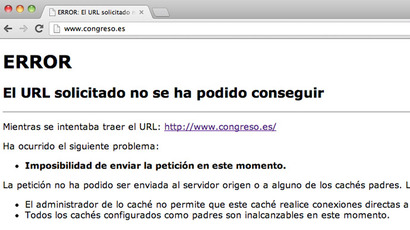 Screenshot from www.congreso.es
