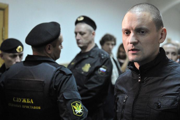 Left Front movement coordinator Sergey Udaltsov (RIA Novosti)