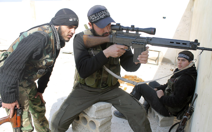 Free Syrian Army fighters (Reuters/Saad Abobrahim)
