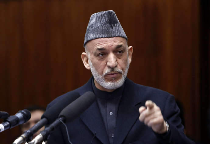 Afghanistan's President Hamid Karzai (Reuters/Mohammad Ismail)