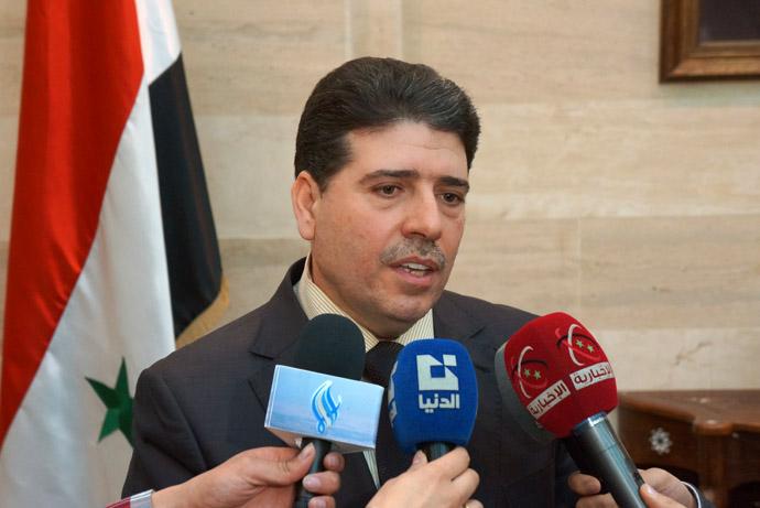 Syrian Prime Minister Wael Halqi (Photo by Nadezhda Kevorkova)