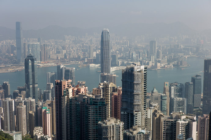 This picture taken on February 1, 2013 shows the city's skyline in Hong Kong. (AFP Photo)