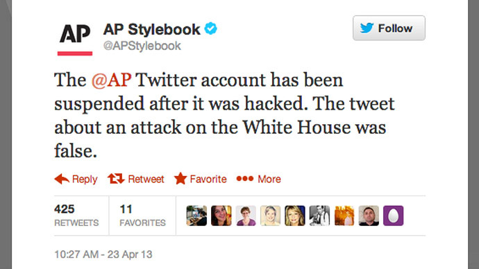 Feds investigate gains after AP Twitter hack