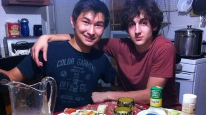 Dias Kadyrbayev and Dzhokhar Tsarnaev (Photo from Vkontakte)