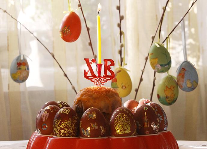 Easter cake. (RIA Novosti / Vladimir Fedorenko)