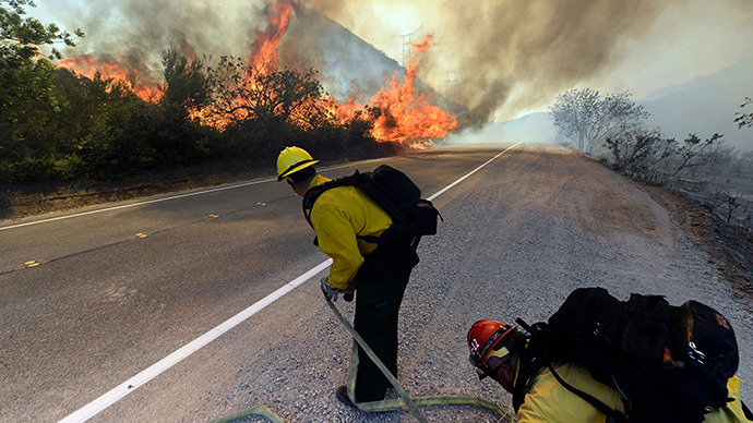 Toxic pesticides burn up in California wildfire