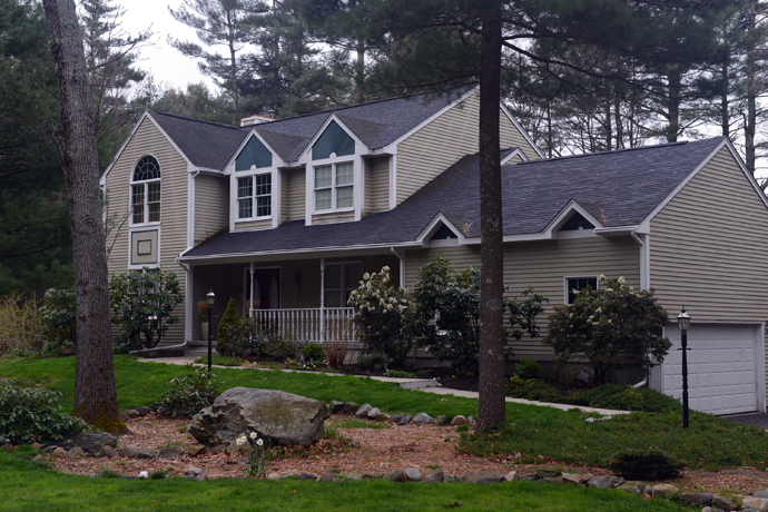 The home of Warren and Judith Russell, where their daughter Katherine Tsarnaeva, the widow of Tamerlan Tsarnaev, is staying, is seen on Coriander Lane April 23, 2013 in North Kingstown, Rhode Island (Darren McCollester / Getty Images / AFP / Files)
