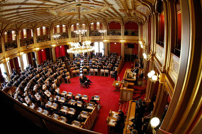 A general view inside the Norwegian parliament in Oslo (Reuters / Erlend Aas / Scanpix)