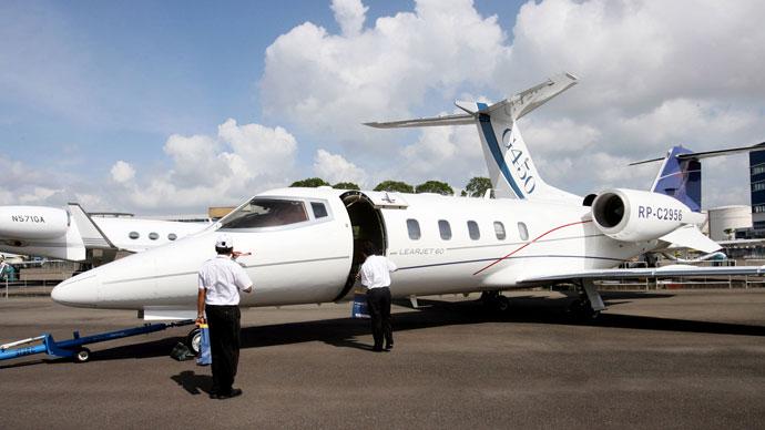 Learjet 60.(AFP Photo/ Roslan Rahman)