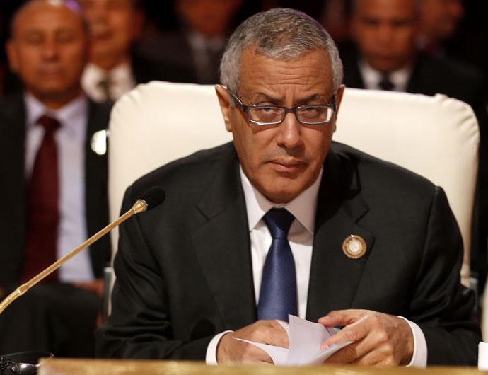 Libya's Prime Minister Ali Zeidan.(AFP Photo / Karim Sahib)