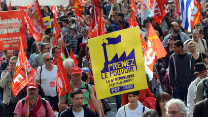 'We need money to live': Thousands protest against Italian PM, austerity measures (VIDEO, PHOTOS)