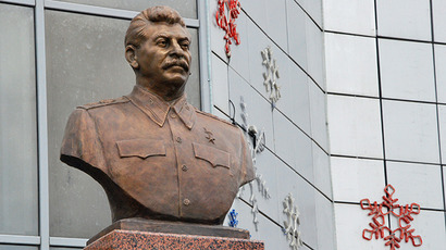 A monument to Joseph Stalin is unveiled in Yakutsk before Victory Day. (RIA Novosti / Bolot Botchkarev)