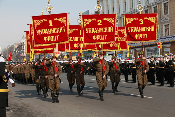 The Victory Day parade in Vladivostok on May 9, 2013. (Image courtesy of the Primorsky Krai Administration)