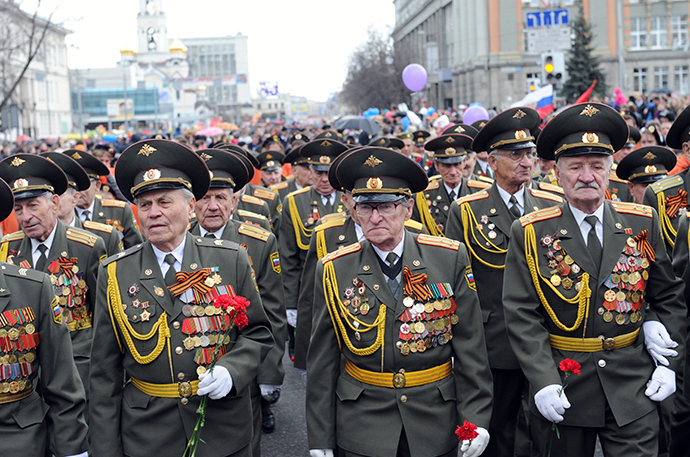 The military parade marking the 68th anniversary of victory in the Great Patriotic War, Yekaterinburg. (RIA Novosti / Pavel Lisizin)