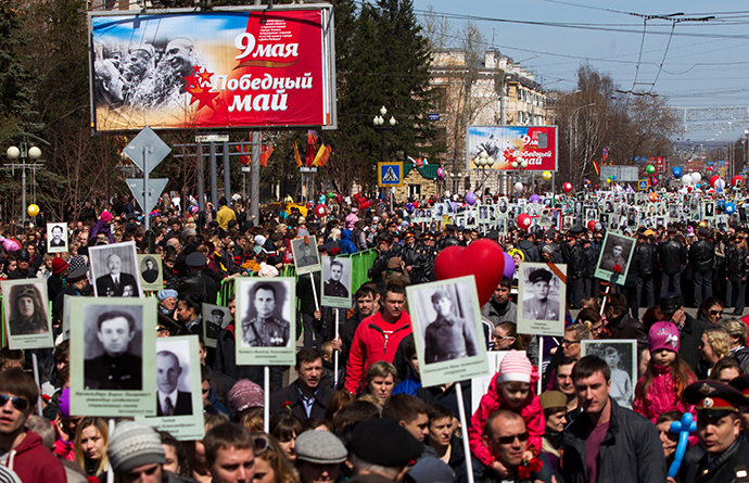 "The biggest ""Immortal Regiment"" march in Tomsk in Siberia. (RIA Novosti / Yakov Andreev)"