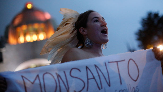 Monsanto protests scheduled in 36 countries - Image Credit: RT
