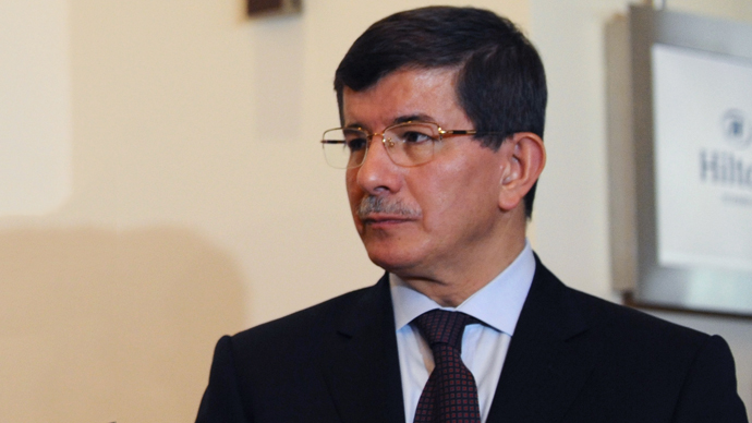Turkish Foreign Minister Ahmet Davutoglu. (AFP Photo / Bulent Kilic)