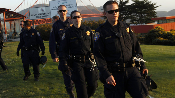 California Highway Patrol officers (Reuters/Robert Galbraith)