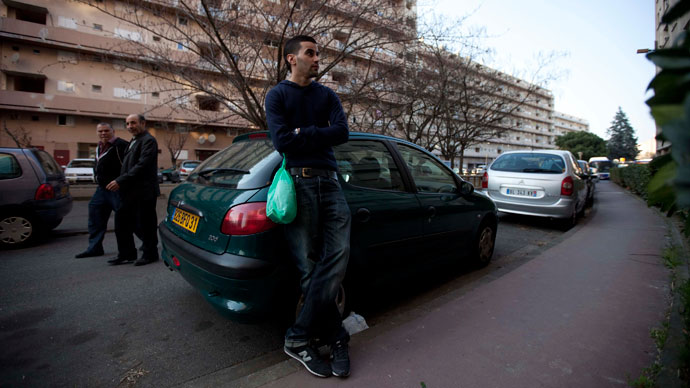 Said, 24, an unemployed French Muslim of Algerian origin, hangs out on a street in Toulouse.(Reuters / Zohra Bensemra)