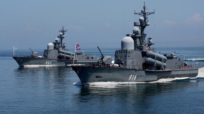 Guards missile boats of the Pacific Fleet (RIA Novosti/Vitaliy Ankov)