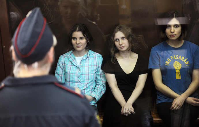 Verdict announced in trial of Pussy Riot punk group members. (RIA Novosti / Alexander Utkin)