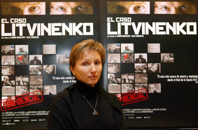 Marina Litvinenko, widow of FSB agent Aleksandr Litvinenko. (AFP Photo / Javier Soriano)