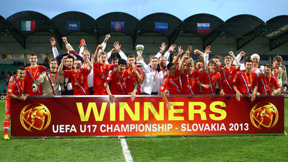 Russia emerges victorious in U17 football finals against Italy