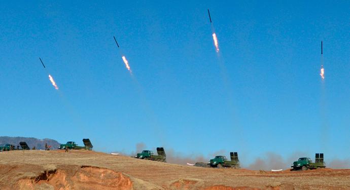 North Korea's artillery sub-units (Reuters / KCNA)