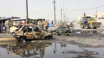 14 Iraqi border police gunned down at fake checkpoint, 2 bodies burned
