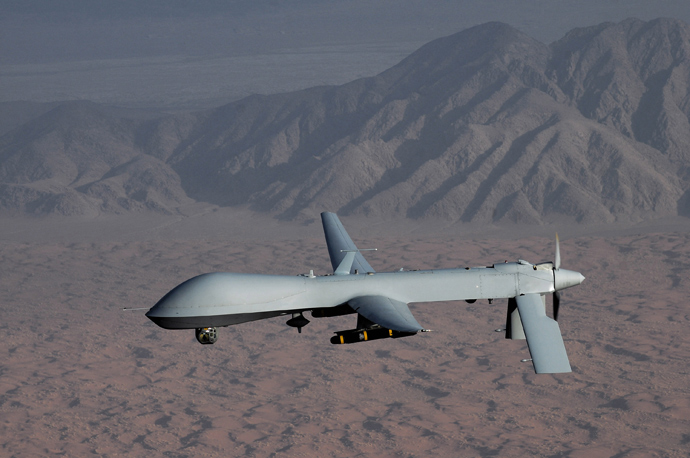 MQ-1 Predator unmanned aircraft (Reuters / Lt Col Leslie Pratt)