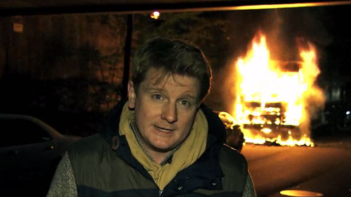 RT's Peter Oliver. Screenshot from RT video.