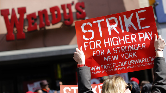 New York fast-food workers protest Wendy's in latest labor rights demo