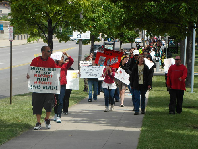 The March Against Monsanto, Columbus, Ohio. (Image from facebook.com)