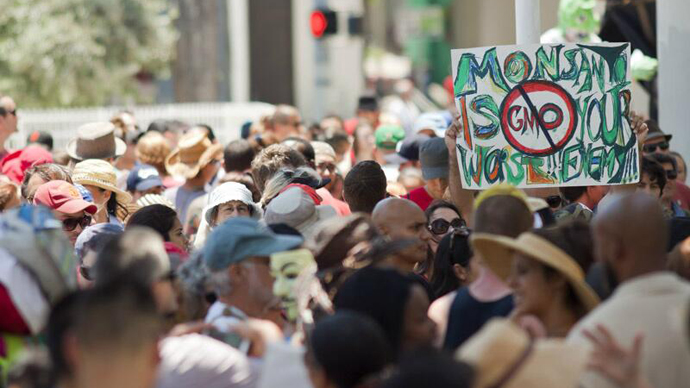 The March Against Monsanto, Miami. (Image from twitter user@sbstarchaser)