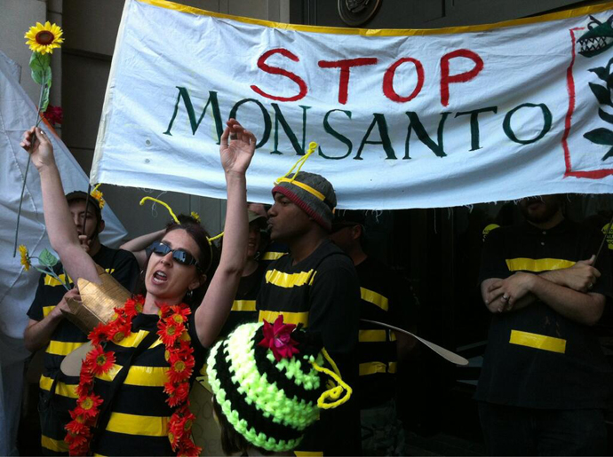 The March Against Monsanto, Washington DC. (Image from twitter user@johnzangas)