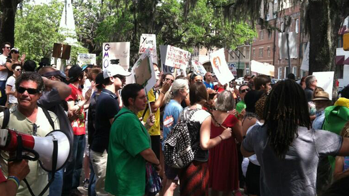 The March Against Monsanto, Savannah. (Image from twitter user@theparKUSA)