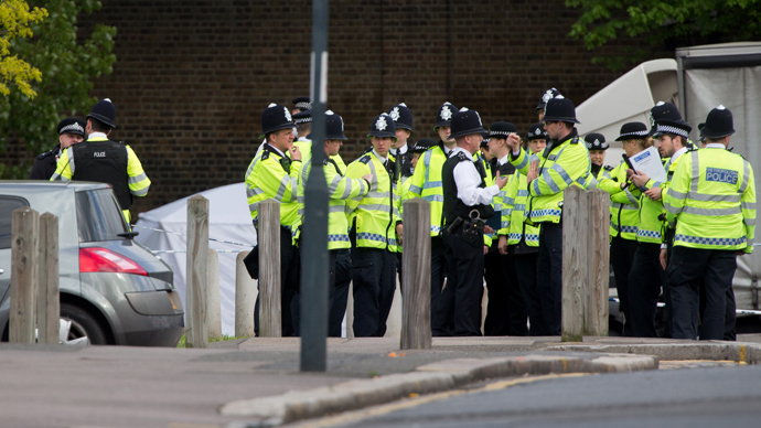 'Terrorist' blast near mosque in central England on day of Woolwich victim's funeral