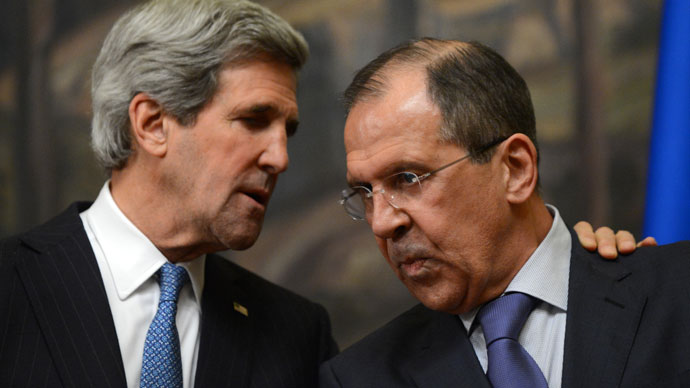 Take two: Lavrov, Kerry working to broker redo of Syria peace conference