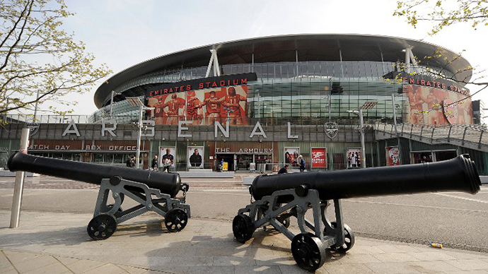 Arsenal's Emirates Stadium is pictured in London. (AFP Photo / Ben Stansall)