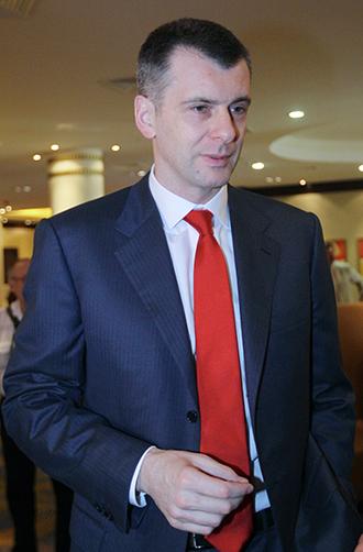Russian billionaires Mikhail Prokhorov. (RIA Novosti / Ruslan Krivobok)