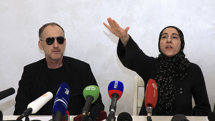 Anzor Tsarnaev and Zubeidat Tsarnaeva, parents of Boston bombings suspects, attend news conference in Makhachkala. (Reuters)