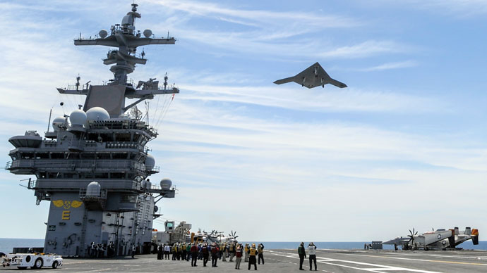 Computer glitch forces X-47B Navy drone onshore after historic carrier landing