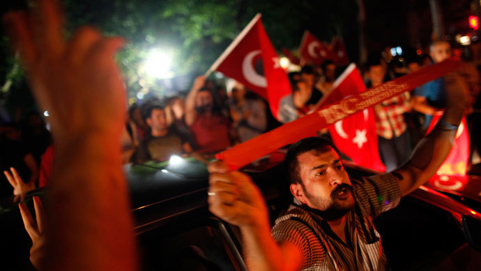 Anti-government protesters demonstrate on a street in central Ankara June 14, 2013.(Reuters / Dado Ruvic)